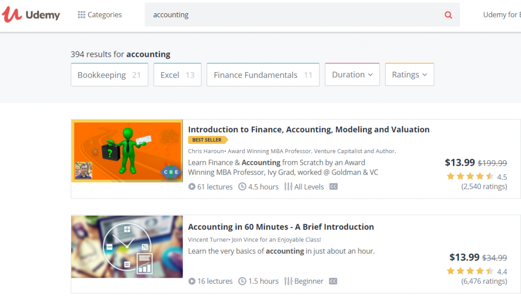 Part time accounting jobs Udemy tutor